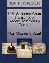 U.S. Supreme Court Transcript of Record Tompkins V. Cooper