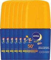Nivea Sun Zonnebrand Roll On Kids Factor(spf)50+ Voordeelverpakking