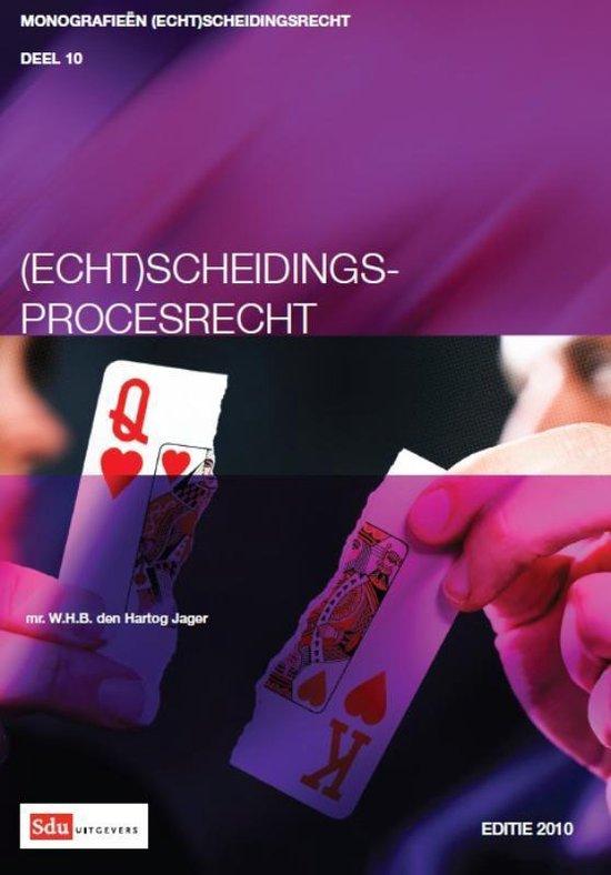 Cover van het boek '(Echt)scheidingsprocesrecht' van W.H.B. den Hartog Jager