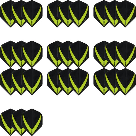 10 sets (30 stuks) Super Sterke – Groene - Vista-X – darts flights – Dragon darts