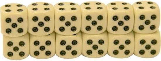 Afbeelding van het spel 12x Dobbelstenen van 1,2 cm