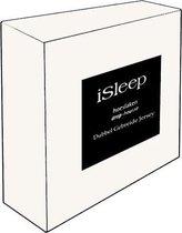 iSleep Dubbel Jersey Hoeslaken - Tweepersoons - 130/140x200 cm - Wit