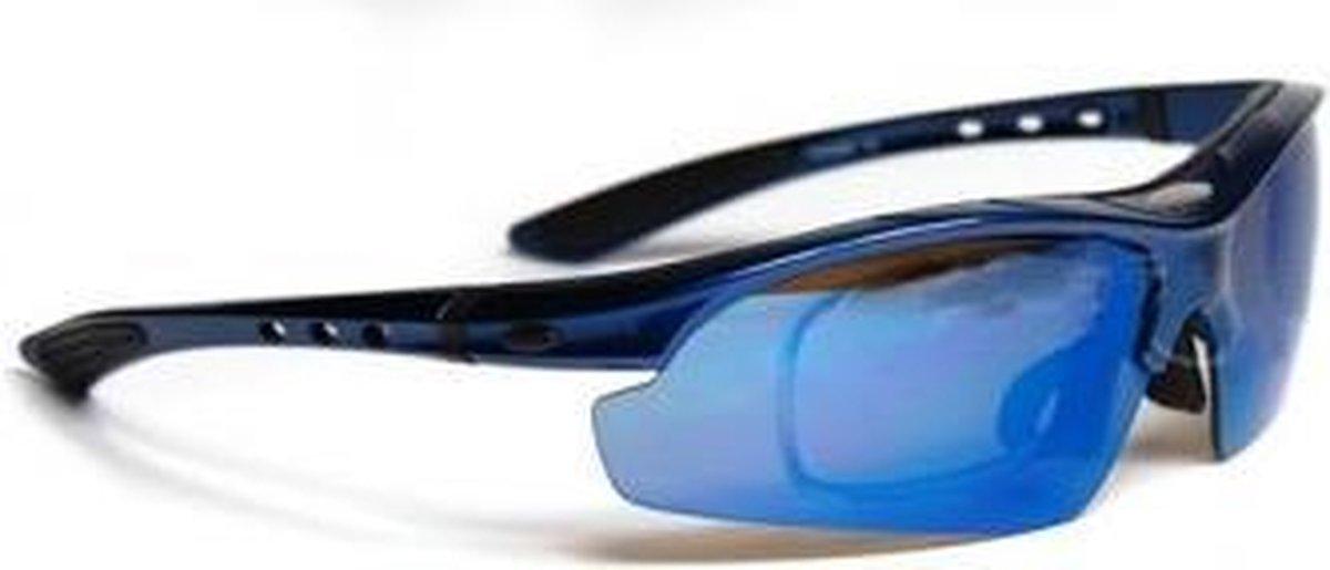 Fiets Zonnebril + 5 Verwisselbare voorzet lenzen - ABC-Led