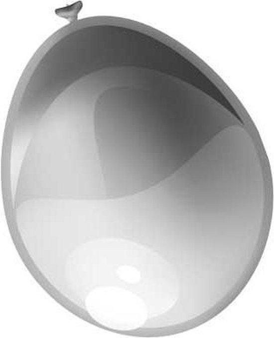 Ballonnen metallic zilver (30cm, 50st)
