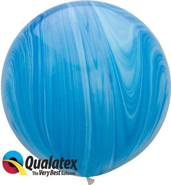 Marmer Print Blauw 75 cm (2 stuks)