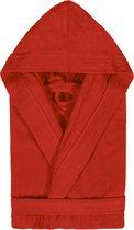 Badjas met Capuchon Uni Cool Velours Rood col 2307 maat M