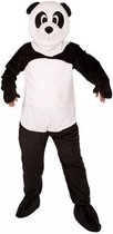 Pandabeer kostuum met groot pluche masker