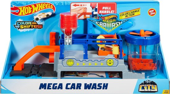 Afbeelding van Hot Wheels Ultimate Series Mega Autowasserette - Racebaan
