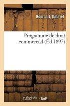 Programme de droit commercial