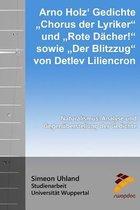 Arno Holz Gedichte Chorus Der Lyriker