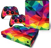Xbox One X Sticker | Xbox One X Console Skin |Colored | Xbox One X Gekleurd Skin Sticker | Console Skin + 2 Controller Skins