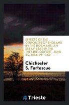 Effects of the Conquest of England by the Normans