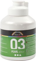 A-color acrylverf, wit, 03 - metallic, 500 ml