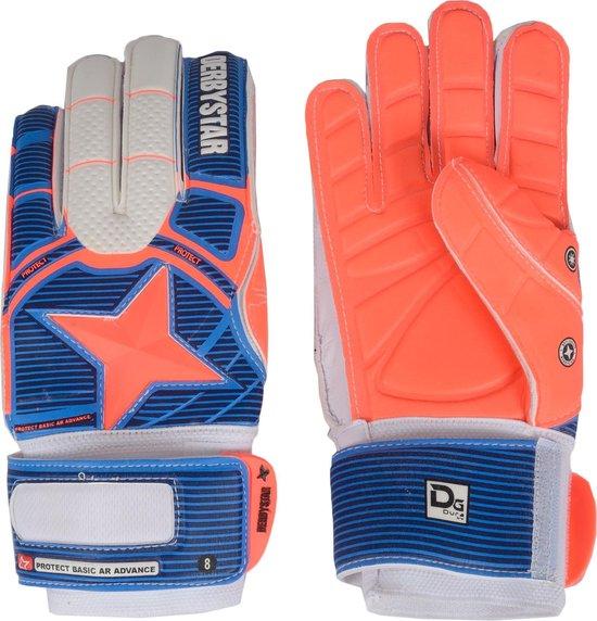 Derbystar Protect Basic AR Advance Keepershandschoenen Senior KeepershandschoenenVolwassenen - blauw/oranje/wit Maat 10.5/ Lengte hand 20.5cm