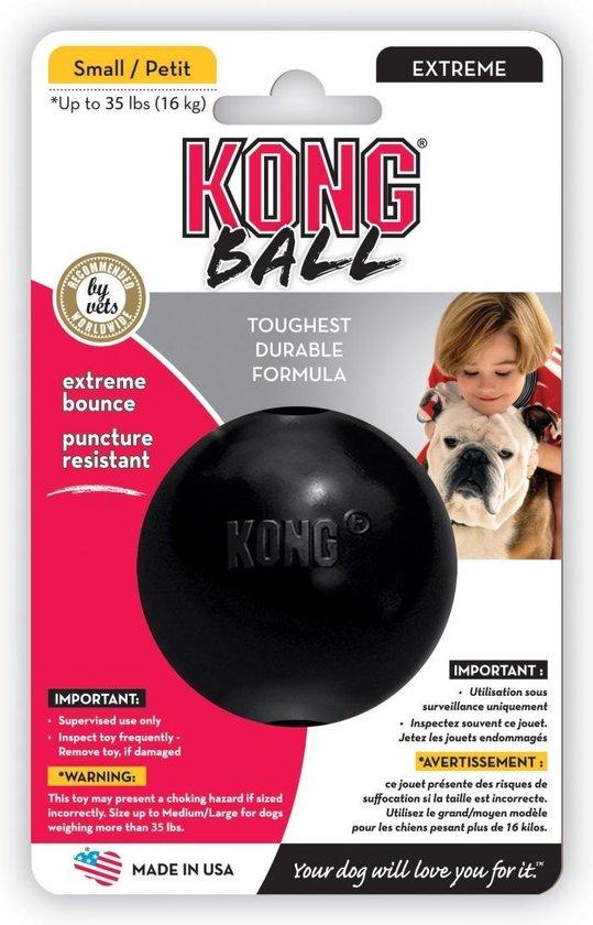 Kong Extreme Bal - Hondenspeelgoed - Zwart - M/L