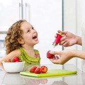 Aardbeien ontkroner van Recette Parfait - Rood - Fruit Snijder - Keukenaccessoires - Aardbei steel verwijderaar - Tomaten ontkronen - Aardbeien tool