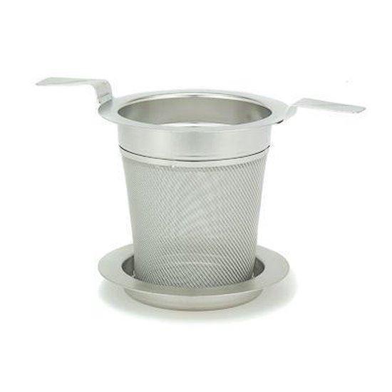 Theefilter met deksel   RVS   ø 6cm   losse thee
