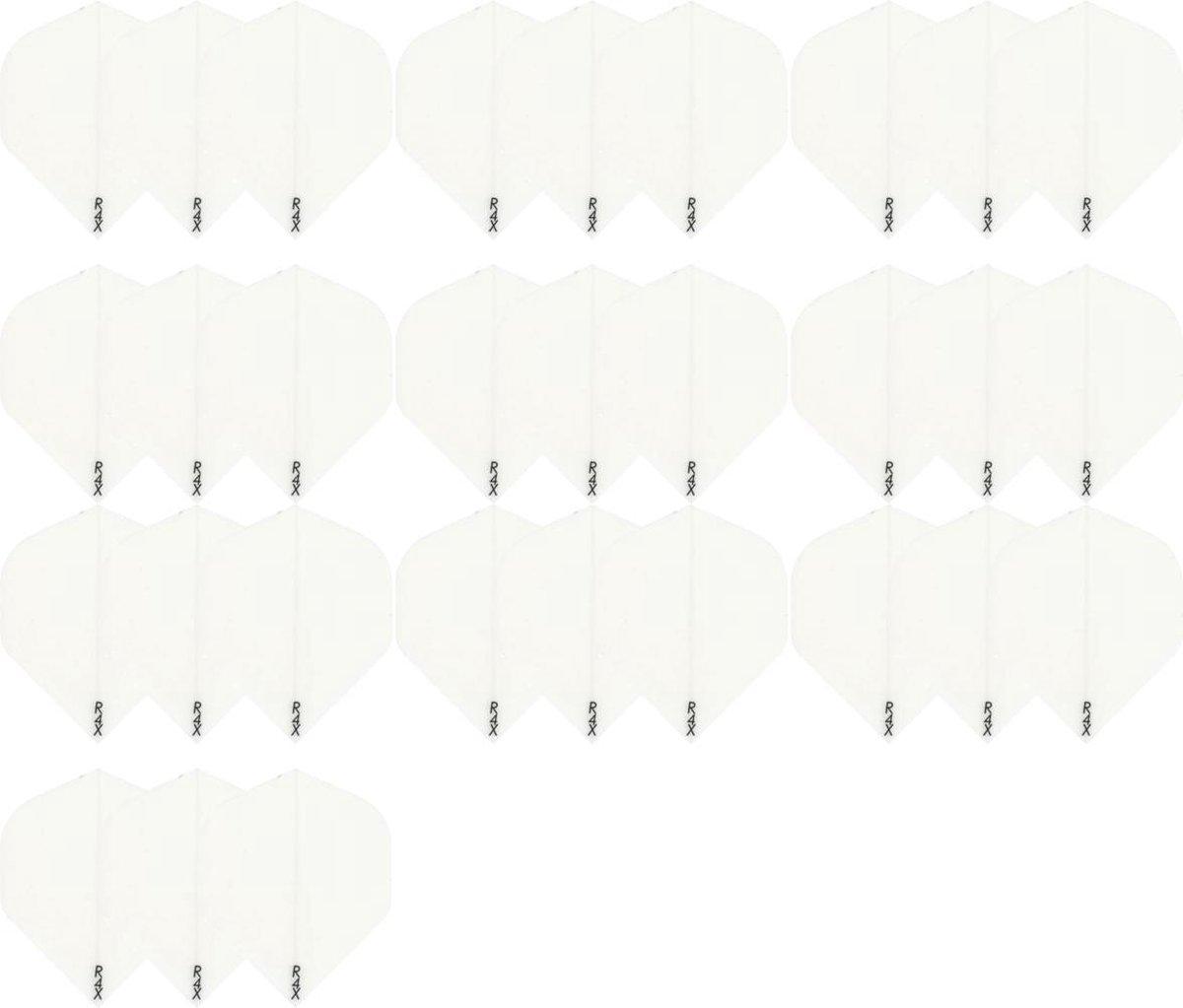Dragon darts - 10 Sets (30 stuks) zeer stevige R4x - dart flights - Wit - darts flights