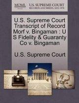 U.S. Supreme Court Transcript of Record Morf V. Bingaman