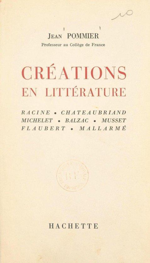 Créations en littérature
