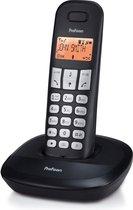 Profoon PDX-1100 DECT telefoon - 1 Handpost - Duidelijk verlicht display - Zwart