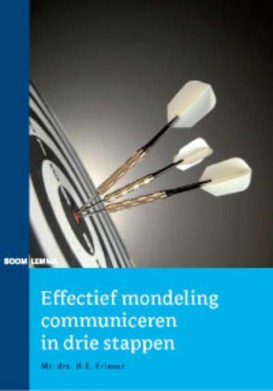 Cover van het boek 'Effectief mondeling communiceren in drie stappen'