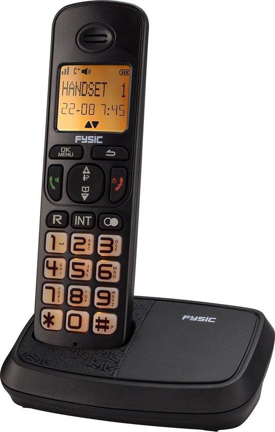 Fysic FX-5500 Big button Dect Telefoon - Knipperende display- en toetsverlichting bij inkomend gesprek