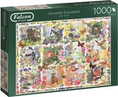 Falcon Country Calender Puzzel 1000 stukjes