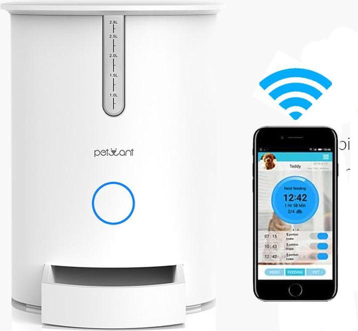 PetWant F3 WIFI Slimme Voerautomaat Speciaal voor uw Kat   Eigenschappen: Verbind met App, WIFI Verb