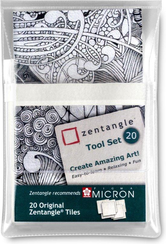 Sakura Zentangle Original tile set 20 wit