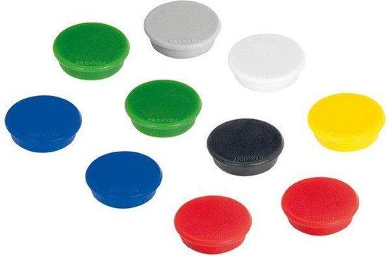 Franken - whiteboard magneten - 13mm rond - assorti - doos à 10 stuks.