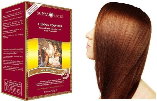 Surya Brasil Henna Poeder Haarverf - Goud Bruin - 50 g
