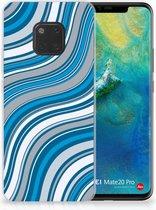 Huawei Mate 20 Pro TPU Hoesje Design Waves Blue