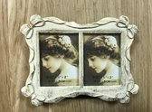 Fotolijstje Pasfoto Dubbel Barok Creme Goud