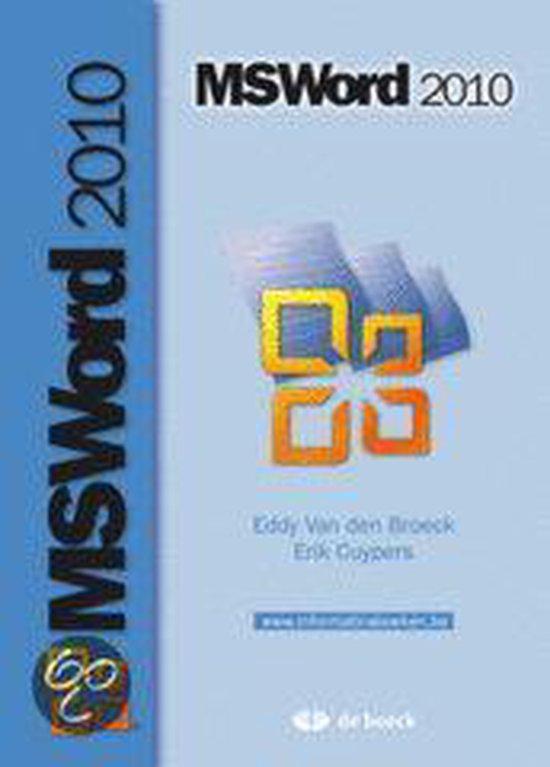 Ms word 2010 - Eddy Van den Broeck   Fthsonline.com