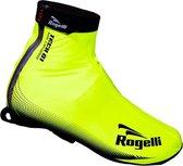Rogelli Fiandrex Overschoenen - Maat 40-41 - Unisex - Fluorgeel/Zwart