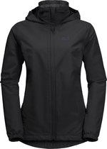 Jack Wolfskin Stormy Point Outdoorjas Dames - Black - Maat XS