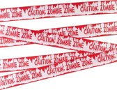 NINGBO PARTY SUPPLIES - Halloween zombie waarschuwing band - Decoratie > Muur-, deur- en raamdecoratie - Rood