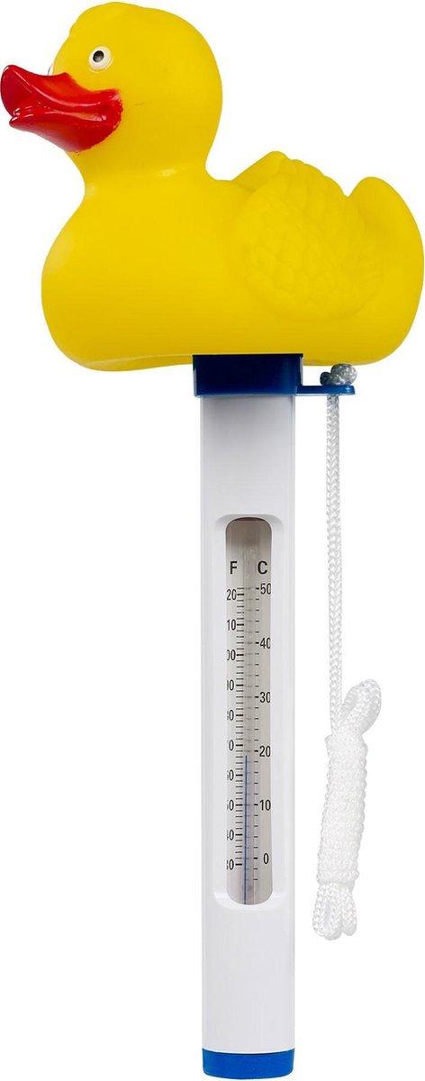 Mega Pool thermometer met eend Geel - 20 x 5 x 20 cm
