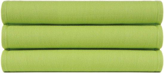 4 Stuks Theedoeken 50x70 cm Uni Pure Groen col 2612