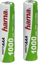 Hama 2 x NiMH, AAA (Micro–HR03) batterijen