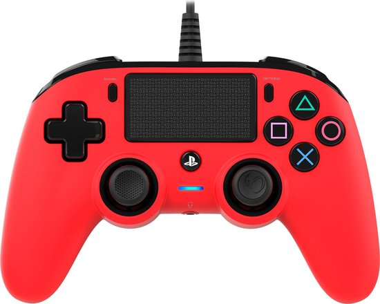 Nacon Official Licensed Playstation 4 Compact Controller - PS4 - Rood