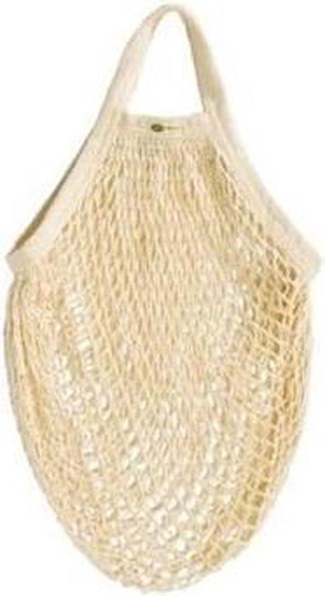 Biologisch Katoenen Boodschappennetje - Creme Wit