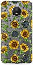 Motorola Moto E4 Hoesje Sunflowers