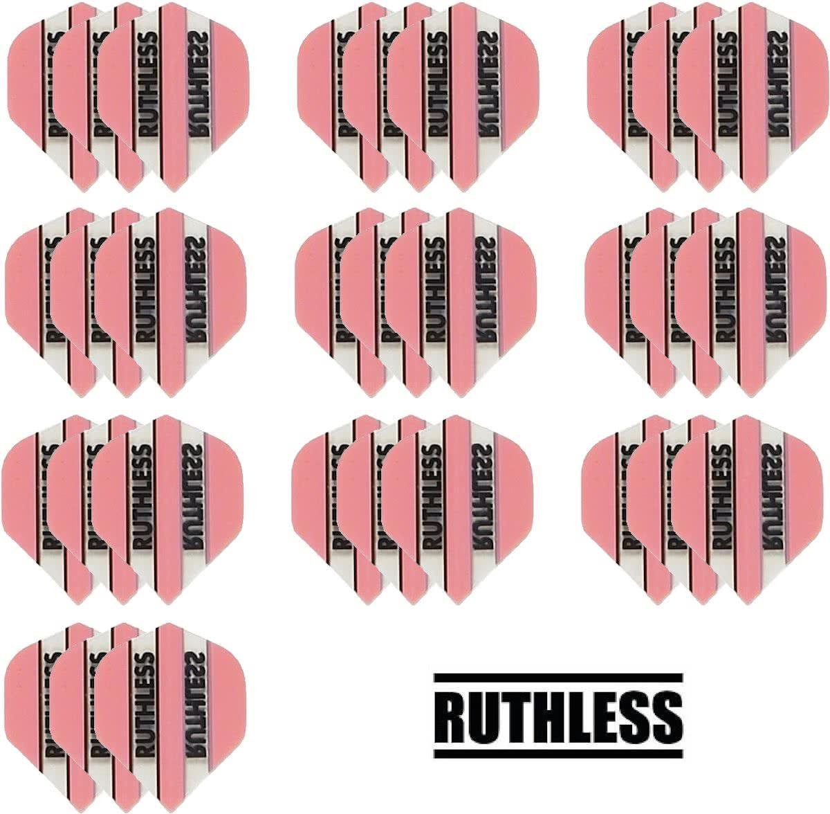 Dragon darts - 10 Sets (30 stuks) - Ruthless - sterke flights - Roze Panel - darts flights