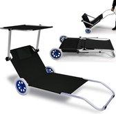 """Inklapbare strandstoel met wielen, ligbed, """"Kreta"""""""