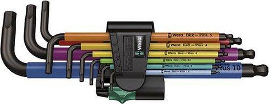 Inbussleutels gekleurd metrisch 1.5-10.0mm