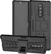 Sony Xperia 1 Rugged Hybrid Case - Zwart
