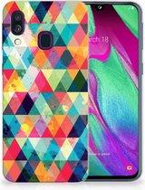 Samsung Galaxy A40 Backcase Geruit