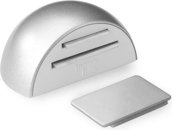 Magnetische deurstop mat chrome zelfklevend, 2 delig